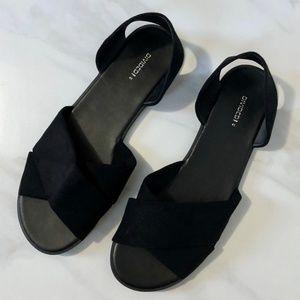 Divided H&M Sandals Faux Suede Black Sandals
